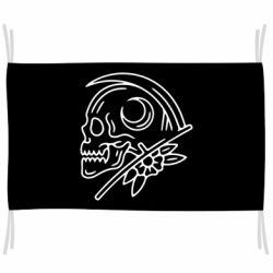 Прапор Skull with scythe