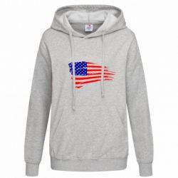 Женская толстовка Флаг США - FatLine