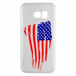 Чохол для Samsung S6 EDGE Прапор США