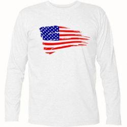 Футболка с длинным рукавом Флаг США - FatLine