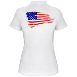 Женская футболка поло Флаг США - FatLine