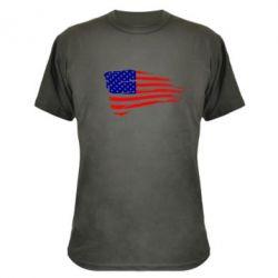 Камуфляжная футболка Флаг США - FatLine
