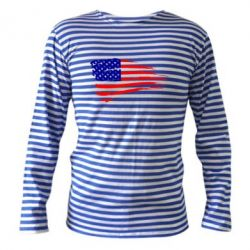 Тельняшка с длинным рукавом Флаг США - FatLine