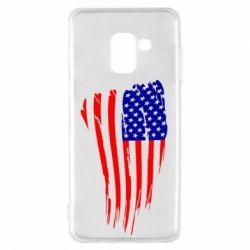 Чохол для Samsung A8 2018 Прапор США