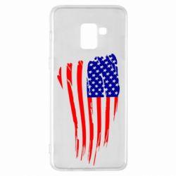 Чохол для Samsung A8+ 2018 Прапор США
