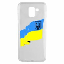 Чехол для Samsung J6 Флаг Украины с Гербом