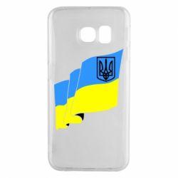 Чехол для Samsung S6 EDGE Флаг Украины с Гербом