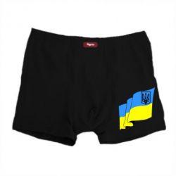 Мужские трусы Флаг Украины с Гербом - FatLine