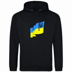 Толстовка Флаг Украины с Гербом - FatLine