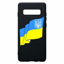 Чохол для Samsung S10+ Прапор з Гербом України