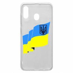 Чехол для Samsung A20 Флаг Украины с Гербом