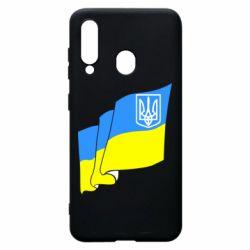 Чехол для Samsung A60 Флаг Украины с Гербом