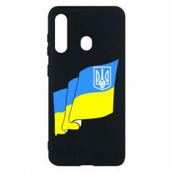 Чехол для Samsung M40 Флаг Украины с Гербом