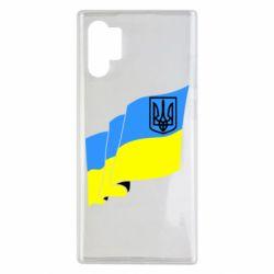 Чехол для Samsung Note 10 Plus Флаг Украины с Гербом