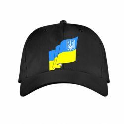 Детская кепка Флаг Украины с Гербом - FatLine