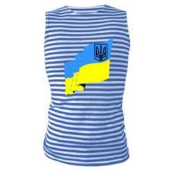 Майка-тельняшка Флаг Украины с Гербом - FatLine