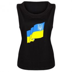 Женская майка Флаг Украины с Гербом