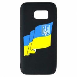 Чехол для Samsung S7 Флаг Украины с Гербом