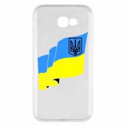 Чехол для Samsung A7 2017 Флаг Украины с Гербом