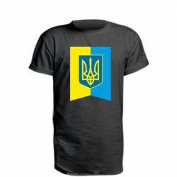 Удлиненная футболка Flag with the coat of arms of Ukraine