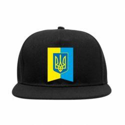 Снепбек Flag with the coat of arms of Ukraine