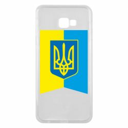 Чехол для Samsung J4 Plus 2018 Flag with the coat of arms of Ukraine