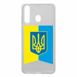 Чехол для Samsung A60 Flag with the coat of arms of Ukraine