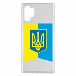 Чехол для Samsung Note 10 Plus Flag with the coat of arms of Ukraine