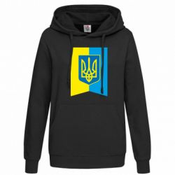 Женская толстовка Flag with the coat of arms of Ukraine