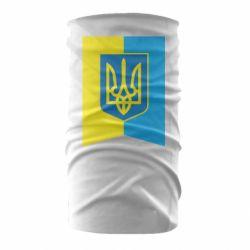 Бандана-труба Flag with the coat of arms of Ukraine