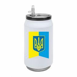 Термобанка 350ml Flag with the coat of arms of Ukraine