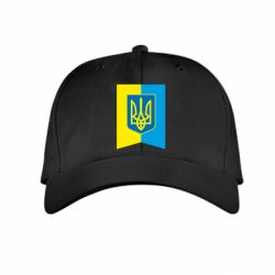 Детская кепка Flag with the coat of arms of Ukraine