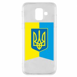 Чехол для Samsung A6 2018 Flag with the coat of arms of Ukraine
