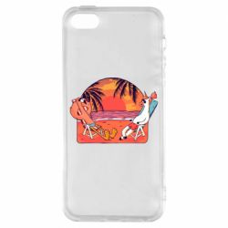 Чехол для iPhone5/5S/SE Flamingo and unicorn