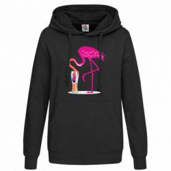 Толстовка жіноча Flamingo drinks beer