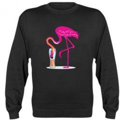 Реглан (світшот) Flamingo drinks beer