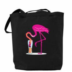 Сумка Flamingo drinks beer