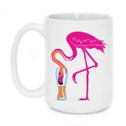 Кружка 420ml Flamingo drinks beer