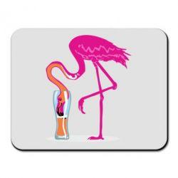 Килимок для миші Flamingo drinks beer