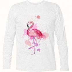 Футболка с длинным рукавом Flamingo pink and spray