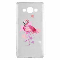Чехол для Samsung A5 2015 Flamingo pink and spray