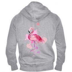 Мужская толстовка на молнии Flamingo pink and spray