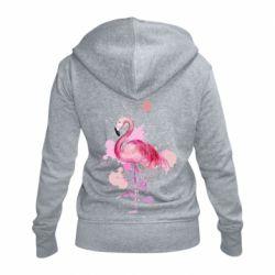 Женская толстовка на молнии Flamingo pink and spray