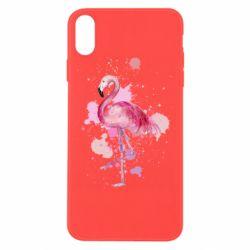 Чехол для iPhone Xs Max Flamingo pink and spray
