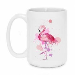 Кружка 420ml Flamingo pink and spray