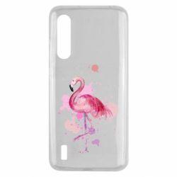 Чехол для Xiaomi Mi9 Lite Flamingo pink and spray