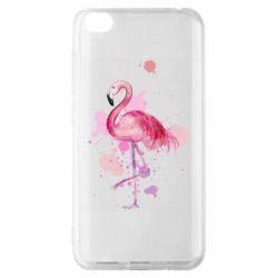 Чехол для Xiaomi Redmi Go Flamingo pink and spray