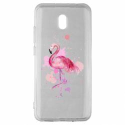 Чехол для Xiaomi Redmi 8A Flamingo pink and spray