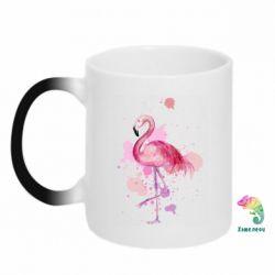 Кружка-хамелеон Flamingo pink and spray