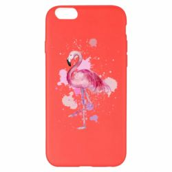 Чехол для iPhone 6 Plus/6S Plus Flamingo pink and spray